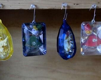 Set of Four Jewel Ornaments