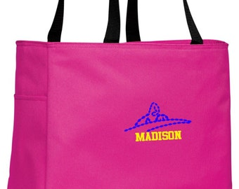 Personalized Swim Tropical Pink Essential Tote with FREE Personalization & FREE SHIPPING    B0750
