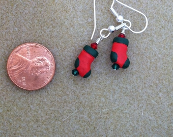Red and Green Stocking Earrings