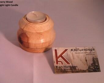 Handmade turned wood night light holders