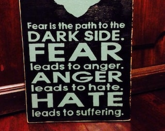YODA quote sign