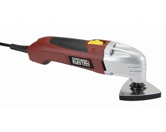 OSCILLATING MULTIFUNCTION Chicago Electric multifunction power tool cuts through cable, air ducts, downspouts, plasterboard 68861 3A2C  AE
