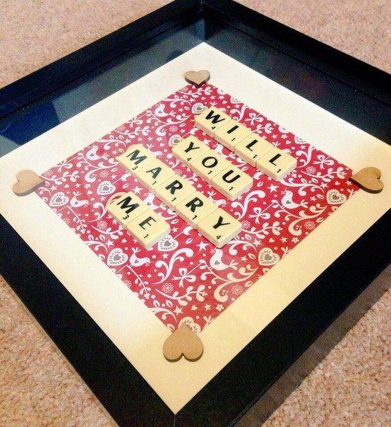 Items Similar To Marriage Proposal Frame- Scrabble Art