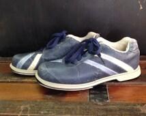 Bowling Shoes 80s Dexter blue womens 6.5