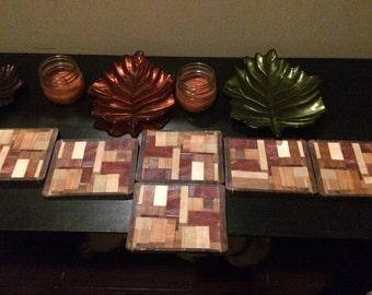Unique Eco Friendly Scrap Wood Drink Coasters