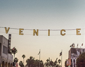 Urban Art - Venice Beach Photography -  Venice Beach Sign -  California Landmark, California Beach Town,  Photographic Print