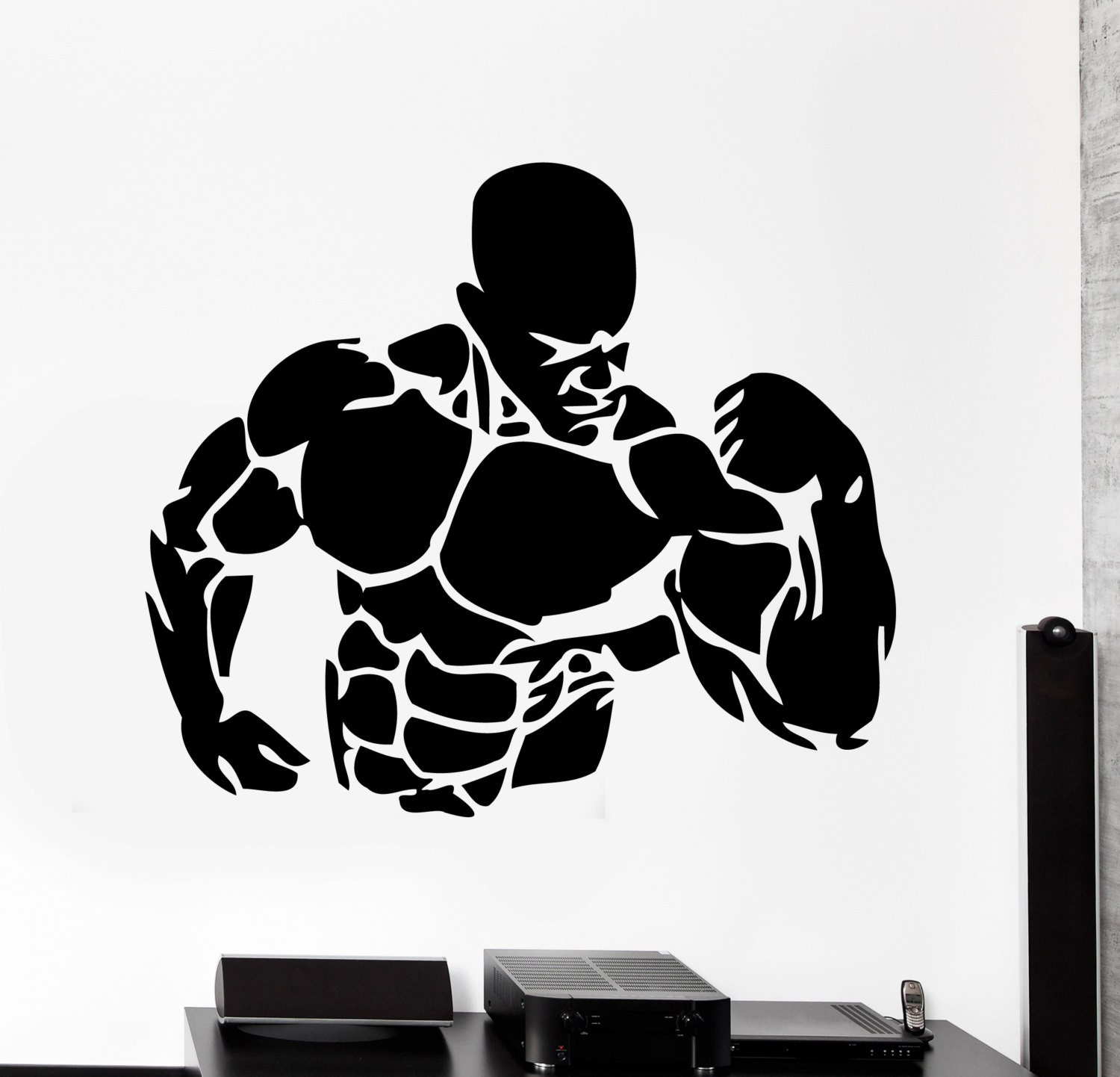 Removable Wall Art Stickers Wall Stickers Vinyl Decal Bodybuilding Fitness Bodybuilder