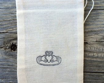 10 Irish wedding favor bags, wedding favors, Irish favor bags, claddagh favor bags, candy buffet bags