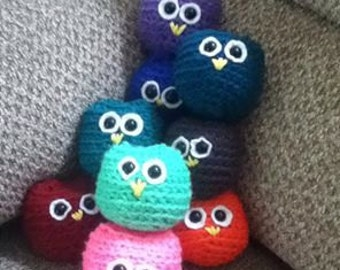Owl Puffs, Crocheted Stuffed Owl Puff Plushies, gifts for kids, kids toy, stuffed owls