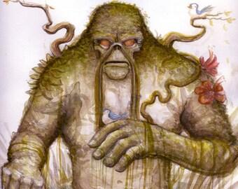 Swamp Thing Watercolor