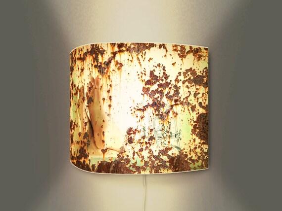 originelle wandlampe mit schalter kunstdruck auf bedrucktem. Black Bedroom Furniture Sets. Home Design Ideas