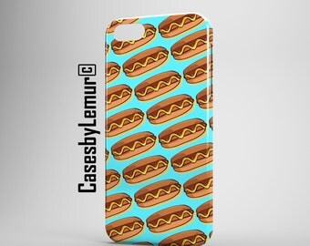 FOOD PRINT Iphone 6 case Food Art Iphone 5 case Fast Food Iphone 5C case Food Phone Case Hot Dog Iphone 5s case Pop Art Iphone 6 plus case