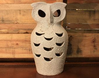 White Ceramic Owl Light- Made in Italy