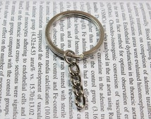 Silver Tone Key Chains Keychain round split Rings keyring loop for DIY Jewelry