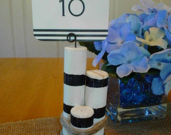 Nautical Wood Pier Table Number