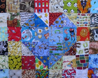 I-Spy Quilt - MADE TO ORDER - Each Square has a Different Fabric - Baby Quilt - Toddler Quilt - Throw Quilt - Rainbow Quilt
