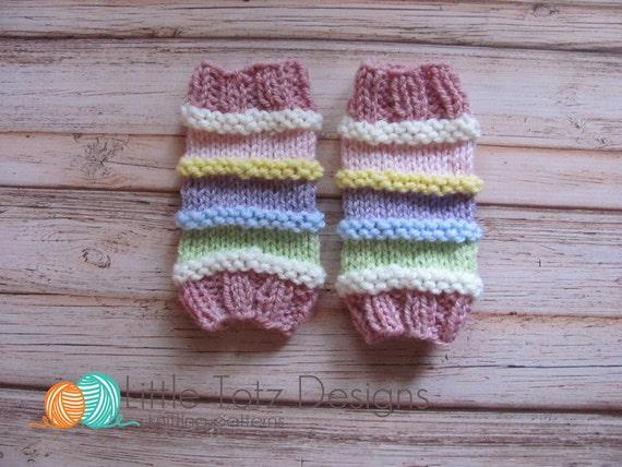 Leg Warmers with Ridges Knitting Pattern Newborn