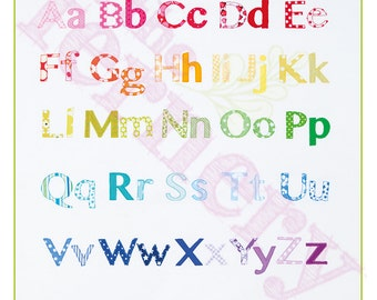 Poster PRINT 'Rainbow Alphabet' 460x460mm