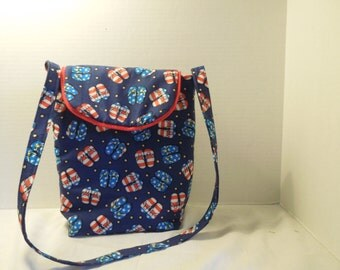 Insulated cotton lunch bag