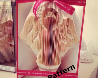 Angel + Folded Book Art Pattern + DIY +  Customizable + Give as a Gift