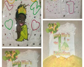 Princess Tiana Inspired TuTu Set w/Vest
