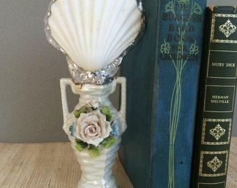 Coastal gift | coastal creations | Shell art | soldered seashell | coastal decor beach | beach decor | beach art | altered bottle