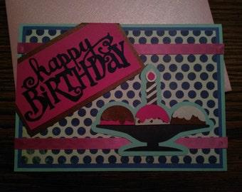 ice cream 1st birthday card