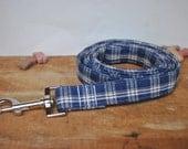 Dog Leash. Homespun. Blue...