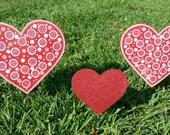3 Valentines Day Heart Yard Decoration, Heart Garden Decor, Valentines Day Art, Outdoor Hearts, Valentines Day Walkway Decoration, Heart