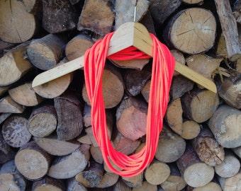 Neon Orange necklace/scarf