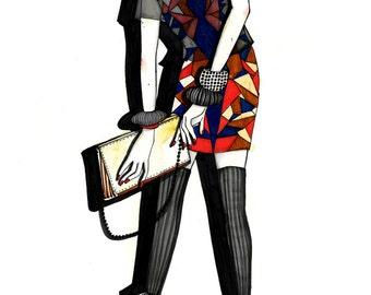 Fashion Illustration Print, Eco Fashion, 8.5X11