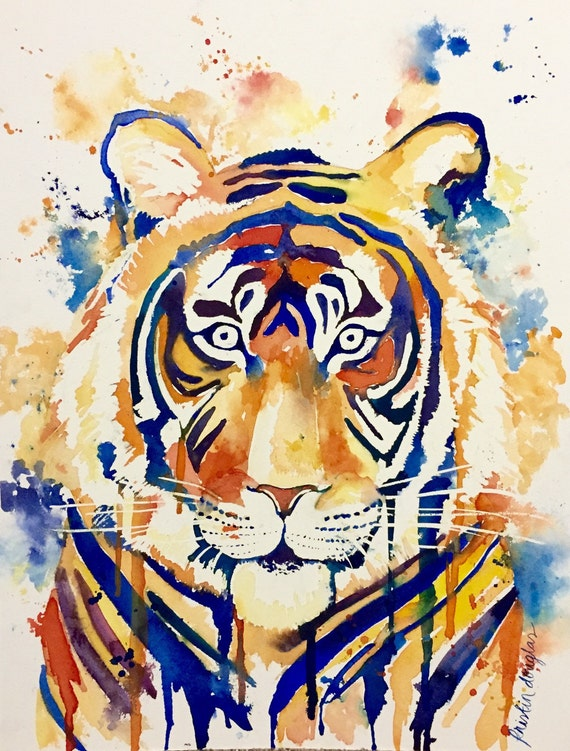 Eye of the Tiger- watercolor print