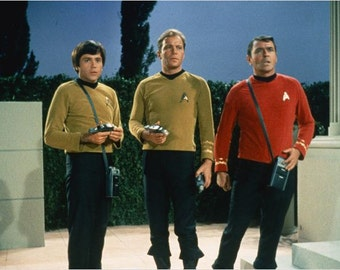James Doohan SCOTTY and Walter Koenig CHEKOV of Star Trek the Original Series Signed autograph small photo with Certificate of Authenticity