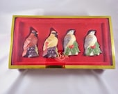 Lenox Cardinal Chickadee Figurine Salt Pepper Shaker Set