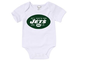 Custom New York Jets Onesies / T-shirts with custom name and number,
