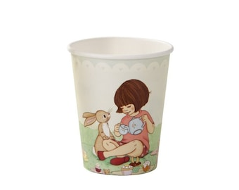 Retro Belle & Boo party disposable cups. Pack of 8. FREE P+P