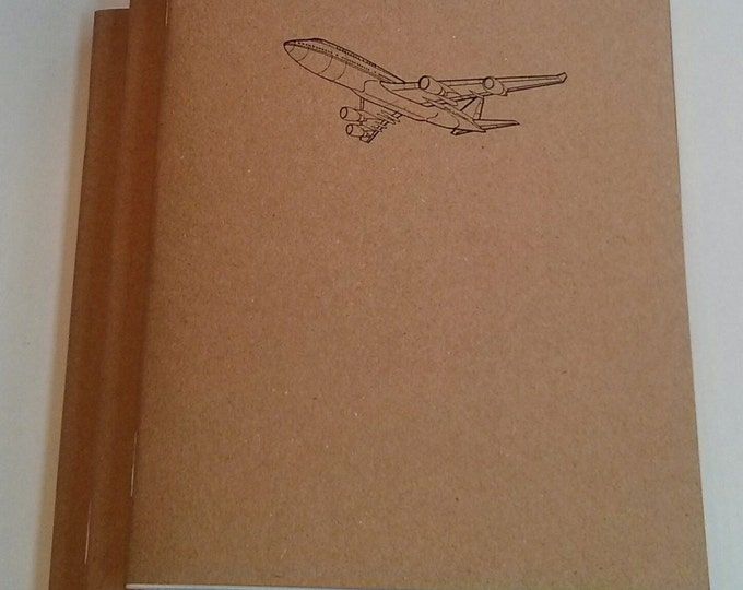 Airplane Jetliner Mini Notebook - diary, journal, party favors, multipack, airplane, commercial airline, custom printing included