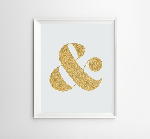 Ampersand print ampersand art wall art ampersand decor by for Ampersand decor