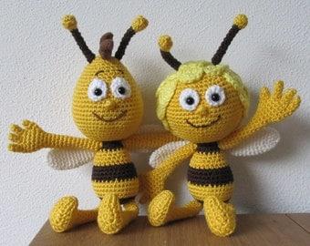 Maya and Willy the Bee crochet pattern Dutch-English
