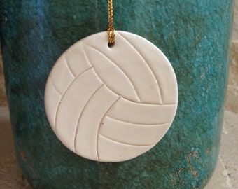 Volleyball ornament Christmas volleyball Ornament Clay Ornament handcrafted ornament