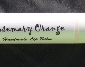 Beeswax Lip Balm, Rosemary Orange, Handmade
