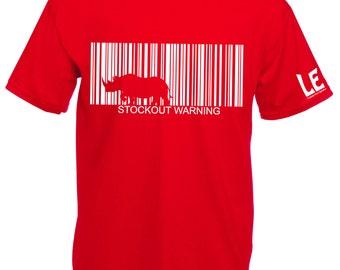 Rhinoceros tshirt, rhino t shirt. Save the animals charity donation tee. Animal rights tees. Red gift animal lover. Endangered species shirt