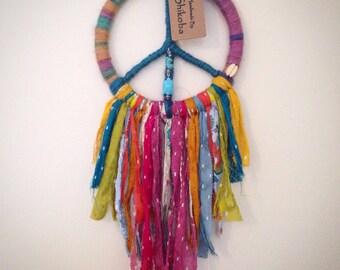 Dreamcatcher - Beautifully colourful 'Buddha Peace' Hippie Dream Catcher