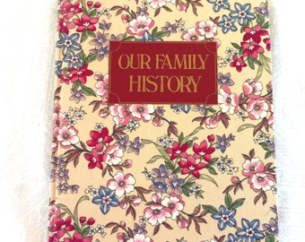 Floral Cloth Our Family History Keepsake Memory Book