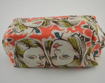Margot Tenenbaum Medium Knitting & Crochet Project/Toiletry Box Bag
