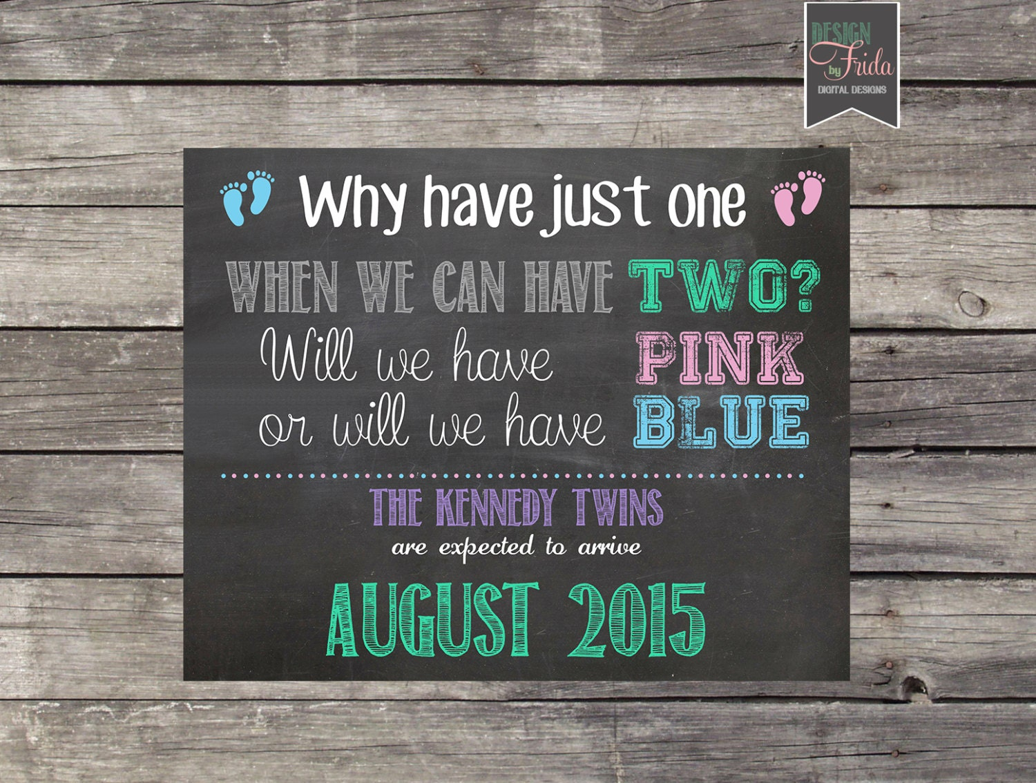 Due with twins – Funny Expecting Baby Announcements