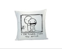 Making Your Friend Smile Sublimation Pillow,Personalized Pillow, Heart Shaped Pillow Cover and Square Pillow