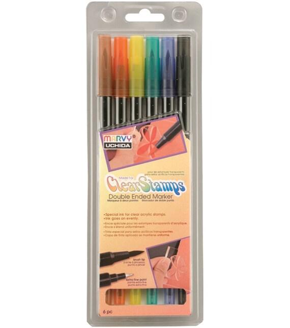 Uchida Markers, Pastel Uchida Marvy Markers, Le Plume 2 II, Double ...