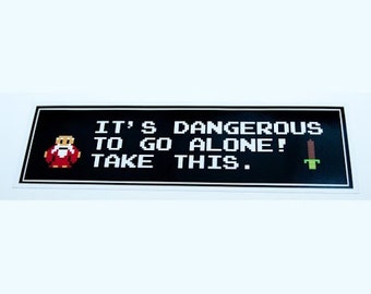 Legend Of Zelda Bumper Sticker