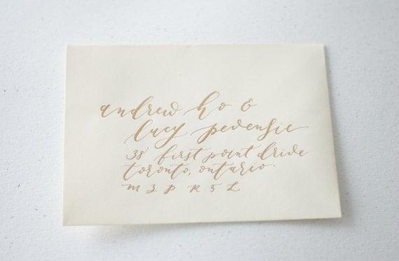 Custom Handwritten Calligraphy Envelopes By Olivebranchandco